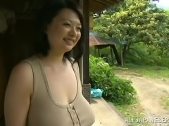 Japanese farmer fucks his wife in the fields in reality clip