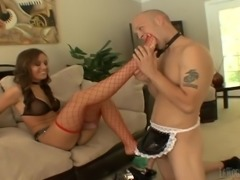 Dominate, Sexy Cougar Fucks Her Man with a Strapon