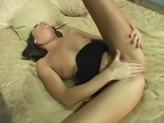 Sexy brunette gets banged