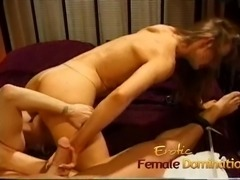 Two sexy bimbos lick their pussies and pleasure a hard dick