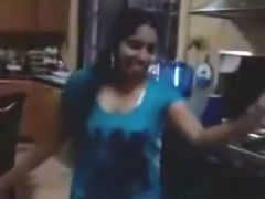 Dirty-minded shameless Indian brunette flashes huge tits with big nipples