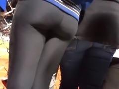 Tight ass in leggings