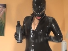 Hot Girl in Latex Catsuit