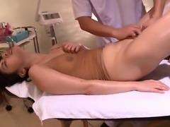Writhes In Voyeur Shaved Massage