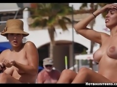 Sexy Topless Bikini Babes beach Voyeur HD Spycam Video