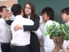 Intriguing nerdy chick from Japan splattered with some man-juice