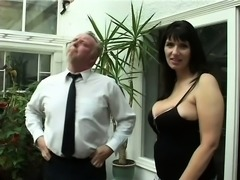 A naughty old woman still has a dirty desire for big hard boners