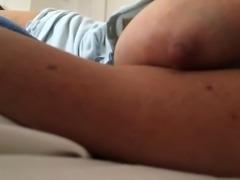 closeup of my wife's big nipple