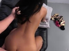 Korean beauty with a lovely ass Amy Parks goes crazy for a big stick