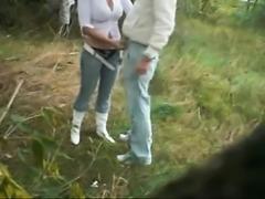 Voyeur Recorded Teen Couple Making Love In Park