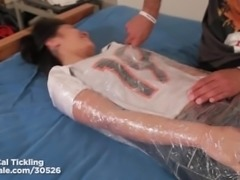 Jacky Fay Lynn's Upperbody tickled in plastic