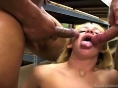 Three guys fuck a white girl in an interracial gangbang