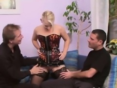 Two massive dicks for a dirty hooker