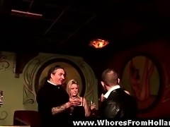European guy arranging hookers for amateur dude in Holland