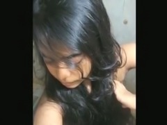 Kinky long haired Indian gal shows off her big boobs and sexy bum for you