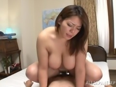 Chubby Japanese milf is loving some wild attention
