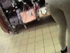 Charming czech teenie gets tempted in the shopping centre an
