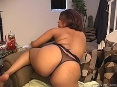 Busty thick black chick loves to fuck her fat juicy pussy 4U