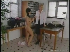 British Cougar Dominates A Hot Lesbian Teen In Pigtails