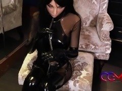 bondage queen leather catsuit japan bebe rubber cosplay