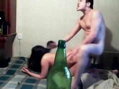 Russian porn cum nature ass dick wife