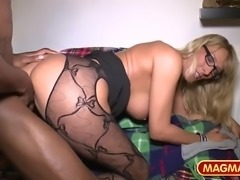 Three mature German gals get slammed hard in an incredible interracial group sex action. Hotties adore having their wet pussies wrecked by a big black cock as they are all enjoying themselves to the max.