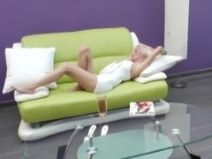 Blonde screwing her anal with toy in mature amateur porn