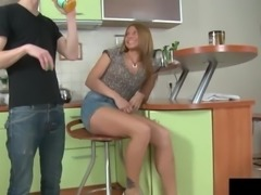 Megan Vale gets the bonking that she deserves down in the kitchen