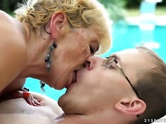 Mature cant wait to be used by her hot sex partner
