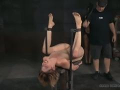 Horny bondage master loves nothing more than punishing his slaves