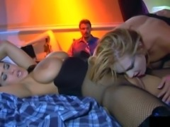 Kinky chicks with big tits getting drilled by the Dirty Harry