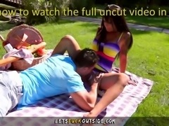 Let's Fuck Outside - Busty Hot Babe Outdoor Fuck in Public