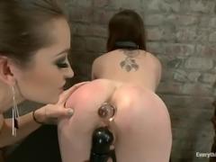 Dani Daniels enjoys hot anal fisting in hot domination clip