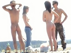 Some really beautiful amateur women on the nudist beach looking impressive
