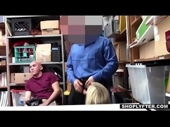 Shoplyfter - Girlfriend Fucked By Sleazy Officer and Boyfriend Watches