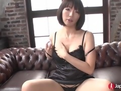 Hot Japanese babe loves masturbating as she is playing with sex toys and fingering her wet snatch. Hottie with a big ass enjoys having a hard cock in her mouth and sucking it gently while she rubs her pussy simultaneously.