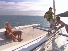 Sahara and Boroka in an unforgettable yacht foursome