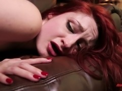 Redhead dame in stockings loving her anal pounded hardcore