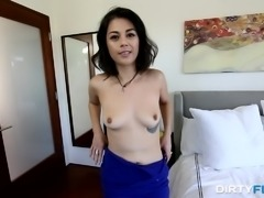 Penelope Reed desperately wants to be a famous porn star. Come in, watch her get on her knees and suck a massive dick. Gotta admit, she has skills and her ass looks amazing when she's on all fours, getting slammed hard from behind. Do you think she has what it takes to be a porn star?