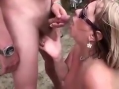 2 mature sluts suck several cocks