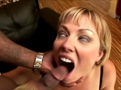 Shaved pussy cougar gaping hole widened hardcore superbly