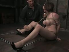 Amazing breast bondage session with Sara Scott