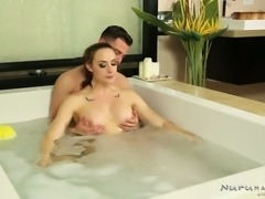 Kinky guy wishes to fuck yummy big breasted MILF Chanel Preston in massage parlor