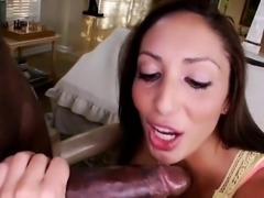 Shaved pussy pornstar interracial with facial