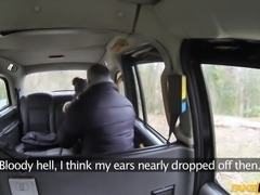 sasha gives out a blowjob in the back of the taxi