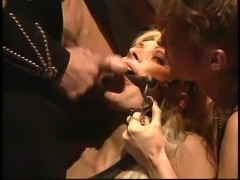 Slave nice ass getting spanked then ravished in BDSM