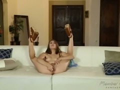 Light haired sweet hooker Blair Williams enjoyed stout 3 some with her horny friends