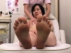 Adorable Japanese babes get their pussies pleased on the ma