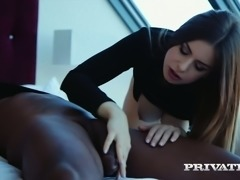 Stella Cox loves hooking up with black guys and having passionate sex
