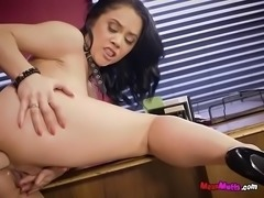 Lesbian Hotties Dildo Fuck Each Others Pussy